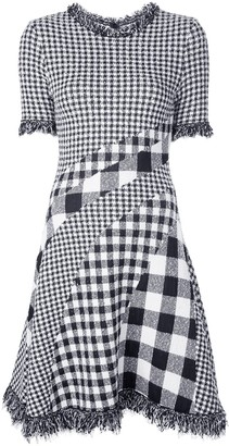 Oscar de la Renta Checked Dress
