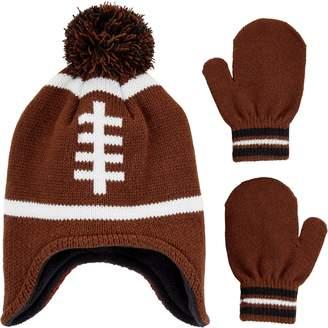 Carter's Baby Boy Football Hat & Mittens Set
