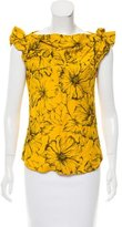 Moschino Cheap & Chic Moschino Cheap and Chic Embroidered Cap Sleeve Top