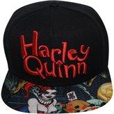 Bioworld Men's Licensed Harley Quinn Sublimated Brim Snapback Hat O/S