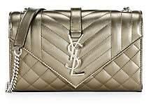 Saint Laurent Women's Small Envelope Monogram Matelassé Leather Shoulder Bag