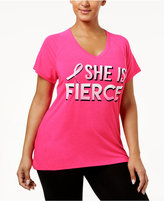 Ideology Plus Size BCRF Graphic T-Shirt, Created for Macy's