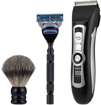 Sebastian Brocchi Brocchi 2Pc Beard Trimmer And Shave Kit Bundle