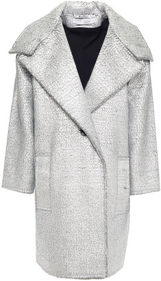 IRO Metallic Coated Wool-blend Coat