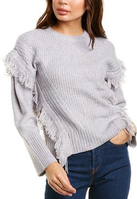 Design History Fringe Sweater
