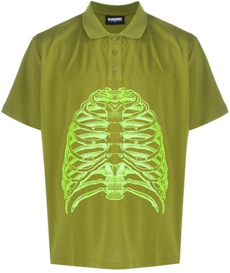 Pleasures Ribcage Print Polo Shirt