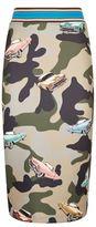 Pinko Camouflage Neoprene Pencil Skirt