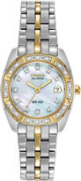 Citizen Eco-Drive Womens Diamond-Accent Watch EW1594-55D