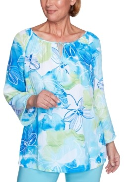 Alfred Dunner Sea You There Printed Knit Top