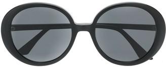 Emmanuelle Khanh Oversized Round Frame Sunglasses