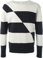Closed striped jumper - men - Cotton - S