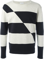 Closed striped jumper - men - Cotton - XL