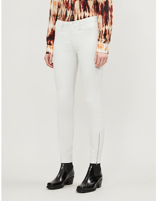 J Brand L8001 skinny mid-rise leather trousers