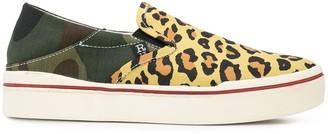 R 13 Leopard Print Slip-On Sneakers