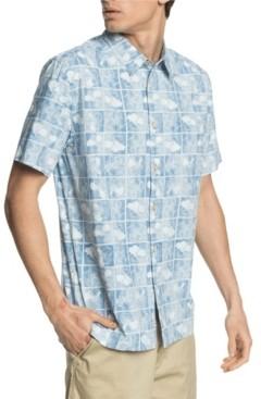 Quiksilver Men's Flower Block Short Sleeve Shirt