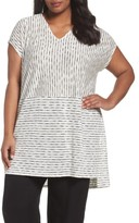 Eileen Fisher Plus Size Women's Painterly Organic Linen Jersey Tunic