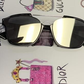 Christian Dior Abstract Black Plastic Sunglasses