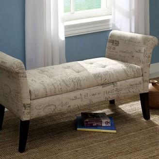 Hokku Designs Harper Upholstered Storage Bench