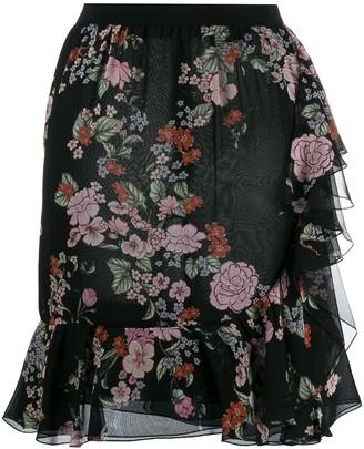 Giambattista Valli floral print peplum skirt