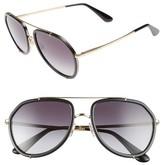 Dolce & Gabbana Women's 55Mm Aviator Sunglasses - Silver/ Blue