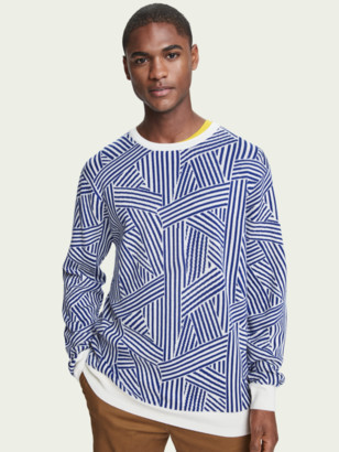 Scotch & Soda Merino wool blend jacquard pullover | Men