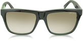Jimmy Choo ALEX/N/S 9H7JS Black Leopard Print Square Frame Sunglasses