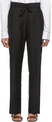 Ann Demeulemeester Black Linen and Silk Trousers