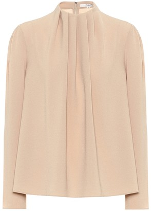 Tibi Esme pleated crApe top