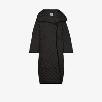 Totême Annecy padded quilted long coat