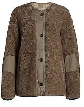 Etoile Isabel Marant Women's Demma Faux Fur Reversible Quilted Coat