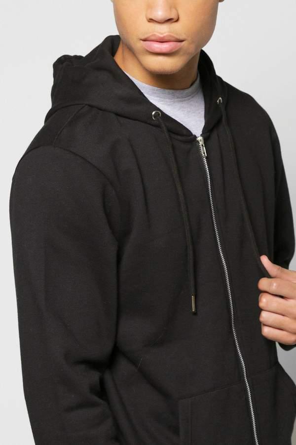 boohoo Basic Zip Through Hoodie