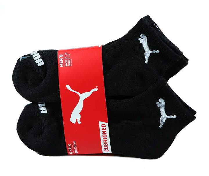 Puma Inc Men's Quarter Crew Low Cut Socks - 6 Identical Pairs, Shoe Size 6-12