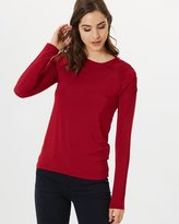 SABA Nora Gathered Long Sleeve Top