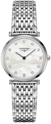Longines La Grande Classique de Stainless Steel Diamond Bracelet Watch