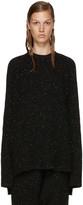 Baja East Black Cashmere Ribbed Sweater