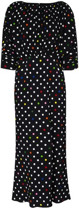 Christopher Kane Spot-Pattern Midi Dress