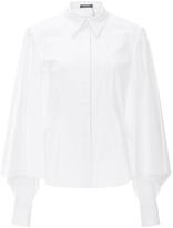 Zac Posen Oversized Sleeve Button Up Blouse