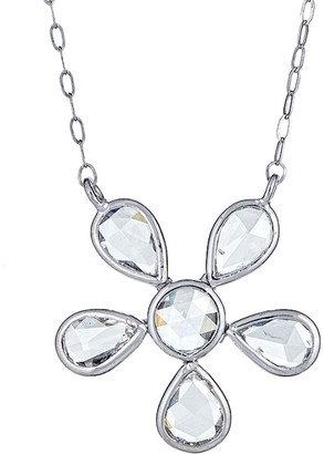 Forever Creations Usa Inc. Forever Creations 18K 0.63 Ct. Tw. Diamond Flower Necklace