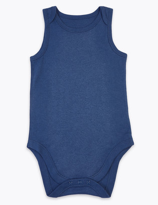 Marks and Spencer Adaptive Cotton Bodysuit (3-16 Yrs)