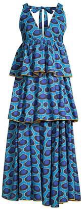 Rhode Resort Leela Sleeveless Print Tiered Dress
