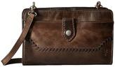 Frye Melissa Whipstitch Crossbody Clutch Cross Body Handbags
