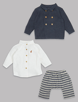 Autograph 3 Piece Cardigan & Shirt with Trousers Outfit