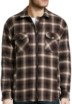 Work King Zip-Front Quilt-Lined Flannel Shirt