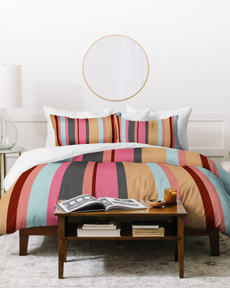 Deny Designs Natalie Baca Baja Mexicali Stripe Duvet Cover Set