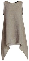 Fabiana Filippi Sleeveless Brilliant-Trim Linen Handkerchief Top