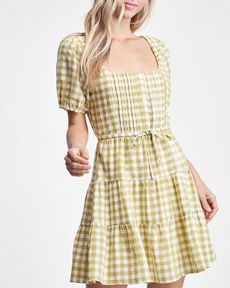 Express Emory Park Gingham Print Woven Dress