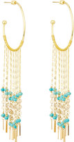 Nakamol Beaded Fringe Hoop Earrings, Multi