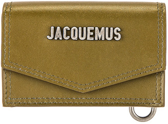 Jacquemus Le Porte Azur Neck Wallet in Dark Khaki   FWRD