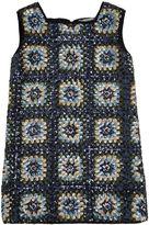 Ermanno Scervino Crochet Effect Sequined Crepe Dress