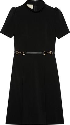 Gucci horsebit belt dress